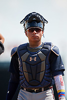 Atlanta Braves catcher William Contreras (5) during an Instructional League game against the Baltimore Orioles on September 25, 2017 at Ed Smith Stadium in Sarasota, Florida.  (Mike Janes/Four Seam Images)