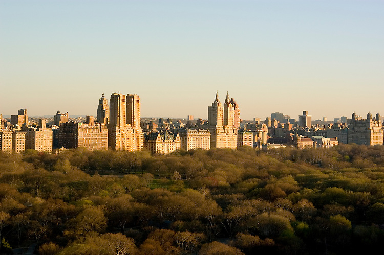 New York City, New York: Central Park and buildings as seen from the Sherry Netherlands Hotel  .Photo #: ny258-14576  .Photo copyright Lee Foster, www.fostertravel.com, lee@fostertravel.com, 510-549-2202.