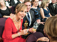 Oscar&reg; winner for performance by an Actress in a Supporting Role, Allison Janney, at the 90th Oscars&reg; at the Dolby&reg; Theatre in Hollywood, CA on Sunday, March 4, 2018.<br /> *Editorial Use Only*<br /> CAP/PLF/AMPAS<br /> Supplied by Capital Pictures