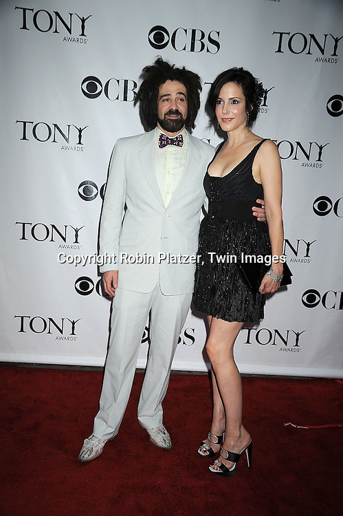 Adam Duritz and Mary-Louise Parker.posing for photographers at the 62nd Annual Tony Awards.on June 15, 2008 at Radio City Music Hall. ..Robin Platzer, Twin Images