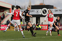 Danielle van de Donk of Arsenal goes close to a goal during Arsenal Women vs Bristol City Women, Barclays FA Women's Super League Football at Meadow Park on 1st December 2019