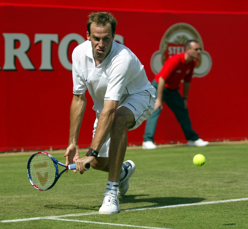 Photograph: Scott Heavey..Day 3 of the Stella Artois Championship at the Queens Club. 11/06/2003..Greg Rusedski