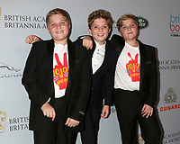 LOS ANGELES - OCT 25:  Gilby Griffin Davis, Roman Griffin Davis, Hardy Griffin Davis at the 2019 British Academy Britannia Awards at the Beverly Hilton Hotel on October 25, 2019 in Beverly Hills, CA