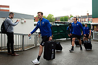 Will Chudley and the rest of the Bath Rugby team arrive at Welford Road. Gallagher Premiership match, between Leicester Tigers and Bath Rugby on May 18, 2019 at Welford Road in Leicester, England. Photo by: Patrick Khachfe / Onside Images