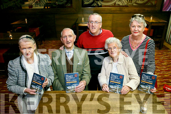 At the  launch of Billy Ryle's new Book  'From Fenit bathing slip to the High Court' at the Grand Hotel on Monday. Pictured Violet Ryle, William Dillane, Donal Dillane, Mary Dillane and Beatrice Sheehy