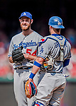 20 May 2018: Los Angeles Dodgers pitcher Tony Cingrani stands to be relived on the mound against the Washington Nationals at Nationals Park in Washington, DC. The Dodgers defeated the Nationals 7-2, sweeping their 3-game series. Mandatory Credit: Ed Wolfstein Photo *** RAW (NEF) Image File Available ***