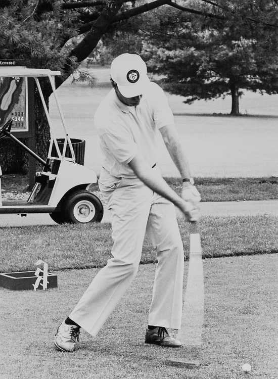 Rep. Ronald Machtley, R-R.I. at the ANEC Golf Tournament on July 17, 1989. (Photo by Maureen Keating/CQ Roll Call)