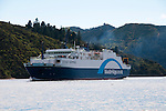 New Zealand, South Island:Ferry seen while searching for  Dolphins and swimming with dolphins and Dolphin Watch  Ecotour snorkeling in Marlborough Sounds near Picton. Photo copyright Lee Foster. Photo # newzealand125314