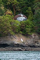 Geodesic Dome Home, Stuart Island, San Juan Islands, Washington, US