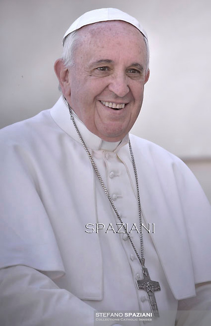 Pope Francis  during his weekly general audience in St. Peter square at the Vatican, Wednesday. 22 April 2015