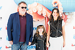 "Pablo Carbonell with his wife Maria Arellano and his daughter Mafalda attends to the morning premiere of the film ""Buscando a Dory"" at Cines Kinepolis in Madrid. June 19. 2016. (ALTERPHOTOS/Borja B.Hojas)"