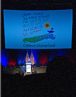 Democratic Presidential candidate Hillary Clinton makes remarks at the Children's Defense Fund Beat the Odds Celebration at the Newseum in Washington, DC on Wednesday, November 16, 2016. This is Secretary Clinton's first public appearance since she conceded the election to Donald Trump.<br />