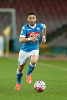 Dries Mertens  during the  italian serie a soccer match,between SSC Napoli and Chievo Verona      at  the San  Paolo   stadium in Naples  Italy , March 06, 2016<br /> Napoli won  3 - 1