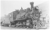RGS 4-6-0 #22 double-heading at Rico.<br /> RGS  Rico, CO  Taken by Maxwell, John W. - 6/30/1940