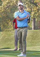 25 SEP 12  Olympic record setter Michael Phelps during Tuesdays Celebrity Scramble at The 39th Ryder Cup at The Medinah Country Club in Medinah, Illinois.