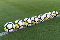 Jacksonville, FL - Thursday, April 05, 2018: Soccer balls prior to a friendly match between USA and Mexico at EverBank Stadium.