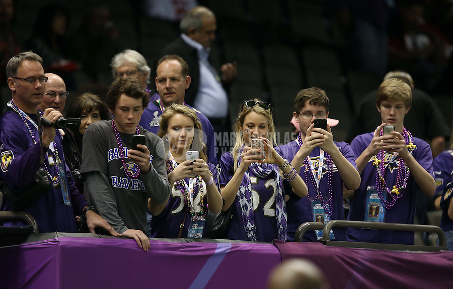 Feb 3, 2013; New Orleans, LA, USA; Baltimore Ravens fans take photos before Super Bowl XLVII against the San Francisco 49ers at the Mercedes-Benz Superdome. Mandatory Credit: Mark J. Rebilas-