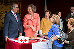 Queen Sofia attends the RED CROSS FLAG DAY in Madrid, Spain. October 8, 2014. (ALTERPHOTOS/Carlos Dafonte)