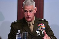 """Washington, DC - June 4, 2018: Lt. General Brian Beaudreault, USMC, Deputy Commandant for Plans, Policies and Operations, participates in the """"Maritime Security Dialogue"""" panel discussion at the Center for Strategic and International Studies in Washington, D.C. June 4, 2018.  (Photo by Don Baxter/Media Images International)"""