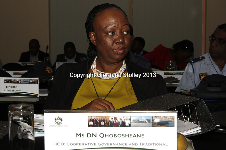 DURBAN - 20 August 2013 - Desiree Nonhlanhla Qhobosheane, the Head of Department of the KwaZulu-Natal Department of Co-operative Governance and Traditional Affairs attends a provincial cabinet lekgotla (meeting) to review the work of the provincial government in the past year and what it needs to achieve in the coming year. Picture: Giordano Stolley