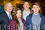 Attending the Kerry Hurling All-Stars award night in The Abbey Tavern Ardfert on Sunday night l-r: Patrick and Josephine O'Riordan,Maurice Harmon and Catriona Brassil.