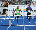 11.09.2011, Olympic Stadium / Olympiastadion, Berlin, GER, ISTAF 2011, im Bild Georg FLEISCHHAUER (GER), Cornel FREDERICKS  (RSA) und Isa PHILLIPS (JAM) in der Disziplin Maenner - 400M Huerden // Georg FLEISCHHAUER (GER), Cornel FREDERICKS  (RSA) and Isa PHILLIPS (JAM) competing in Men - 400M Hurdles during the ISTAF 2011 held in Berlin, GER, EXPA Pictures © 2011, PhotoCredit: EXPA/ S. Kiesewetter