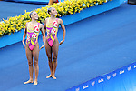 (L to R) Yukiko Inui, Risako Mitsui (JPN), AUGUST 16, 2016 - Synchronized Swimming : Duets Technical Routine at Maria Lenk Aquatics Centre during the Rio 2016 Olympic Games in Rio de Janeiro, Brazil. (Photo by Koji Aoki/AFLO SPORT)