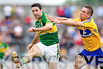 Bryan Sheehan, Kerry in action against Sean Collins, Clare in the Munster Senior Championship Semi Final in Cusack Park, Ennis on Sunday.