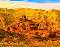 Rock Forms in Wadi Timna, Timna Cliffs beyond, Great Rift Valley near Red Sea, Timna National Park, Israel