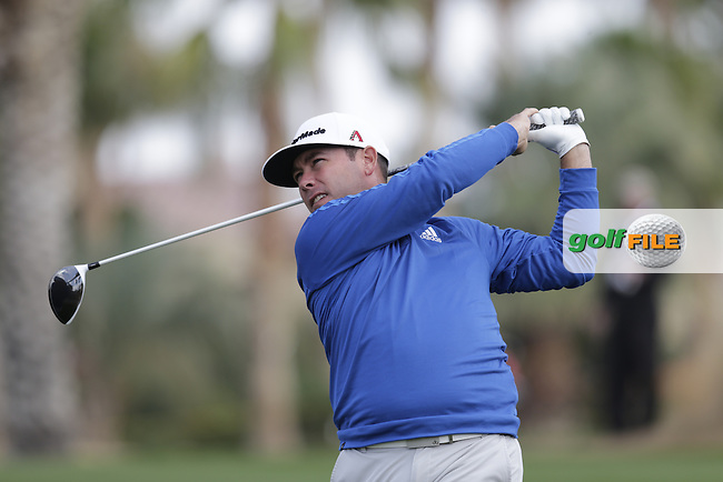 Chez Reavie (USA) tees off the 18th tee during Thursday's Round 1 of the 2017 CareerBuilder Challenge held at PGA West, La Quinta, Palm Springs, California, USA.<br /> 19th January 2017.<br /> Picture: Eoin Clarke | Golffile<br /> <br /> <br /> All photos usage must carry mandatory copyright credit (&copy; Golffile | Eoin Clarke)