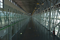 Daytime landscape view of a airplane gate corridor at the Haneda Airport following the 311 Tohoku Tsunami in Tokyo, Japan  © LAN