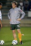 27 March 2004: Austrian international Andreas Herzog during pregame warmups. Los Angeles Galaxy defeated the Kansas City Wizards 1-0 at SAS Stadium in Cary, NC in the final preseason game for both Major League Soccer teams as part of the Cary Pro Kickoff Invitational tournament..