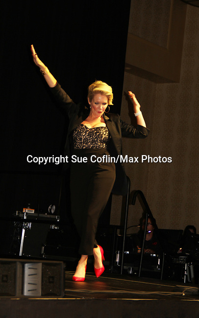 General Hospital's actor - Maura West on October 5, 2019 at the Hollywood Casino, Columbus, Ohio with a Q & A and a VIP meet and greet. (Photo by Sue Coflin/Max Photo)