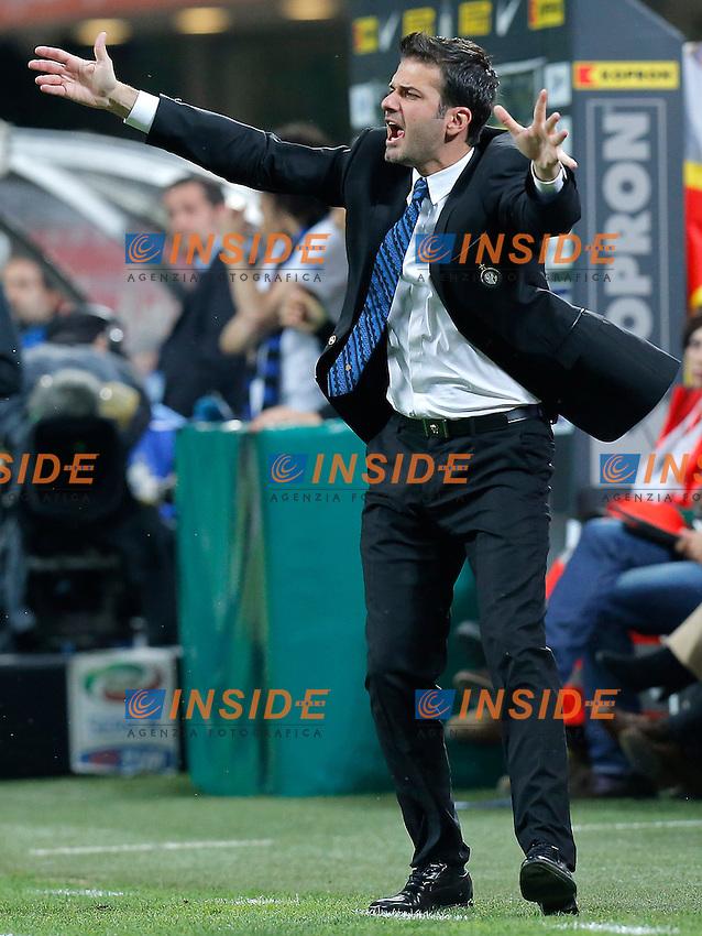 """Andrea Stramaccioni Inter, Milano 8/5/2013 .Stadio """"S.Siro"""".Football Calcio 2012/2013 Serie A.Inter Vs Lazio.Foto Marco Bertorello Insidefoto"""