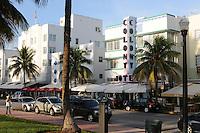 Early morning, Miami Beach, Colony Hotel, Ocean Drive at 8th Street, South Beach, Miami Beach Florida
