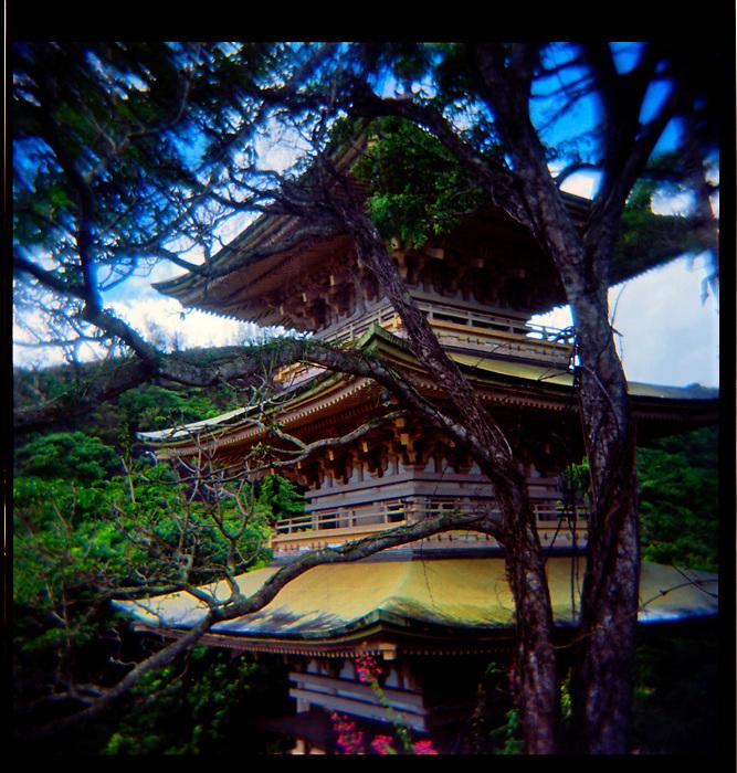 Japanese Temple shot with Holga by Liisa Roberts.