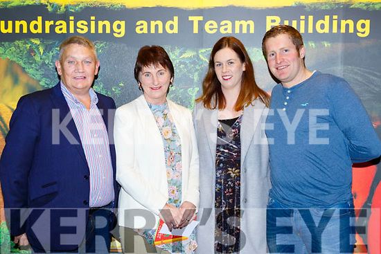 Tim and Kathleen Ryan, Denise Carroll and Kieran Fleming at the Killarney I'm a Celebrity in the INEC on Thursday night