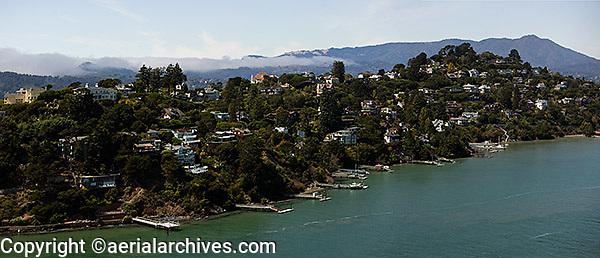 aerial photograph Belvedere Marin County, California