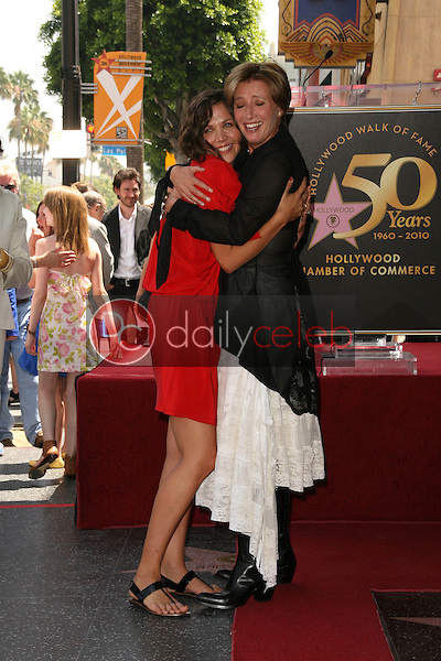 Maggie Gyllenhaal, Emma Thompson<br /> at the induction ceremony for Emma Thompson into the Hollywood Walk of Fame, Hollywood, CA. 08-06-10<br /> David Edwards/DailyCeleb.com 818-249-4998