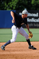 Staten Island Yankees infielder Garrison Lassiter (28) during first team workout at Richmond County Bank Ballpark at St. George in Staten Island, NY June 15, 2010.  Photo By Tomasso DeRosa/ Four Seam Images