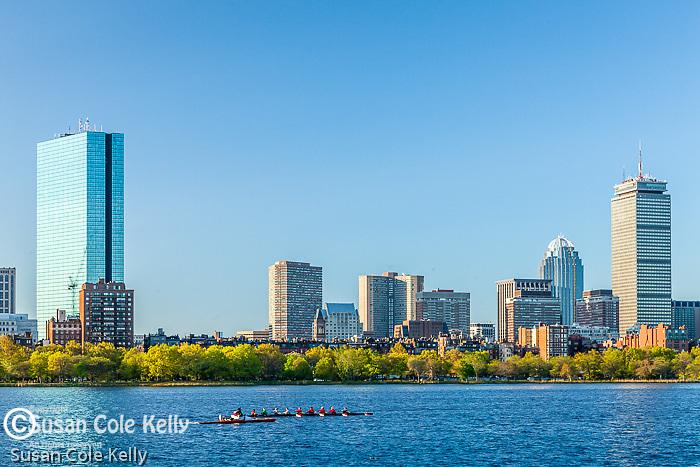 Rowing on the Charles River, Boston, Massachusetts, USA