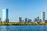 Rowing on the Charles River, Boston, Massachusetts, USA