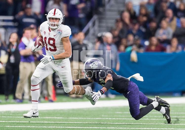 San Antonio, Tx. - December 28, 2017: The 25th Annual Alamo Bowl. The Stanford Cardinal vs the Texas Christian University Horned Frogs. Final score, Stanford 37, TCU 39.