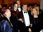 Washington, DC - May 4, 2002 -- Sharon Osborne, Ozzie Osborne, John P. Coale, and Greta Van Susterin arrive at the White House Correspondent's Dinner in Washington, D.C. on May 4, 2002..Credit: Ron Sachs / CNP