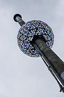 NOVA YORK, EUA, 30.12.2018 - REVEILLON-NOVA YORK - Teste de luz é realizado na bola de cristal da Times Square em New York nos Estados Unidos neste domingo, 30. (Foto: Vanessa Carvalho/Brazil Photo Press)