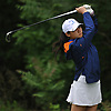 Emilie Guo of Jericho tees off on the 11th Hole of Bethpage State Park's Yellow Course during the second round of the NYSPHSAA girls golf state championship on Sunday, June 3, 2018.