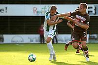 ROTINGHAUSEN - Voetbal, Sankt Pauli - FC Groningen, oefenduel, 01-09-2017, FC Groningen speler Jesper Drost met Bernd Nehrig