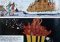 Utopia:  Flash Gordon--two cities--one under water, the other in space.  Alex Raymond, no dates.  Photo '84.
