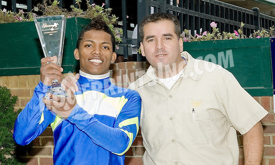 Ricardo Santana Jr. Delaware Park's 2012 Leading Rider with 104 winners!..