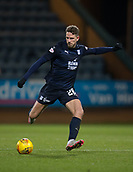 6th February 2019, Dens Park, Dundee, Scotland; Ladbrokes Premiership football, Dundee versus Kilmarnock; Andreas Hadenius of Dundee clears long through midfield